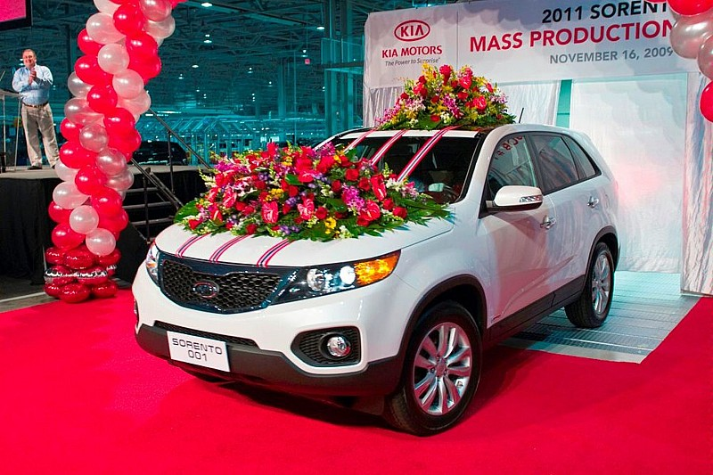Kia's First U.S. Built Model Rolls off Production Line