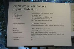 Data board of Sachinidis' Mercedes-Benz