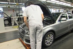 Audi A4 on Production Line