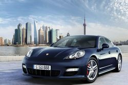 Porsche Panamera Turbo with Shanghai skyline