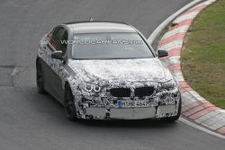 BMW M5 F10 spy photos on Nurburgring