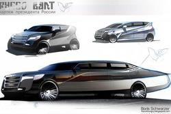 Russian presidential limo concept by Boris Schwarzer 25.2.2013