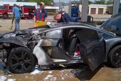 2013 Lamborghini Gallardo exploded at gas station 31.05.2013
