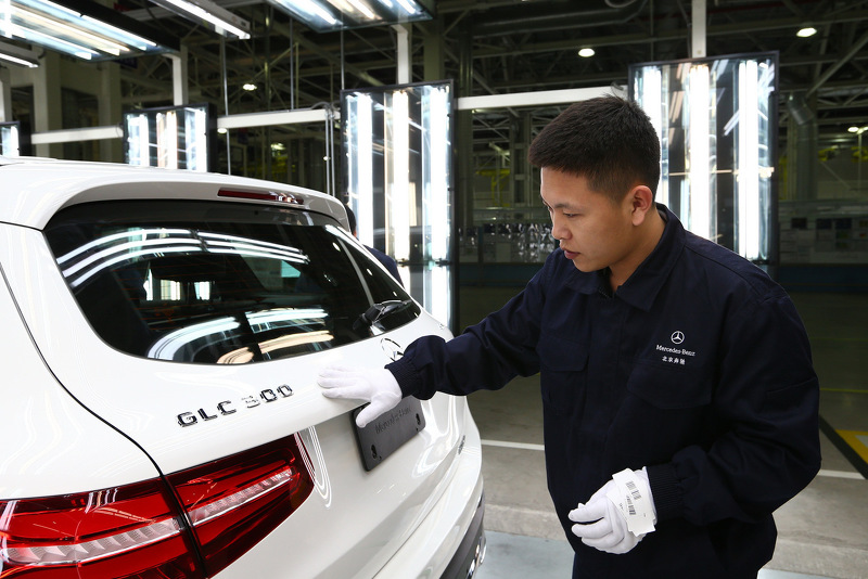 Mercedes starts assembling glc in china for Mercedes benz china
